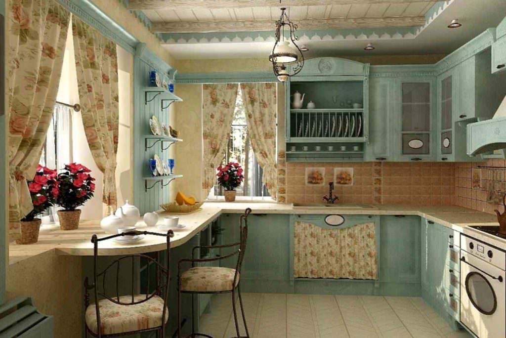 Фото дизайна кухни в прованском стиле
